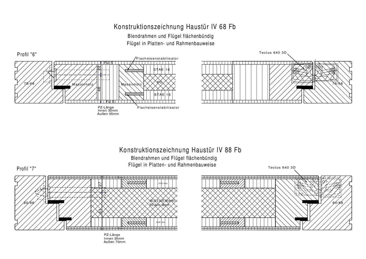 Haustür detail schnitt  Haustüren Brunkhorst, Haustüren aus Holz, Holzhaustüren ...
