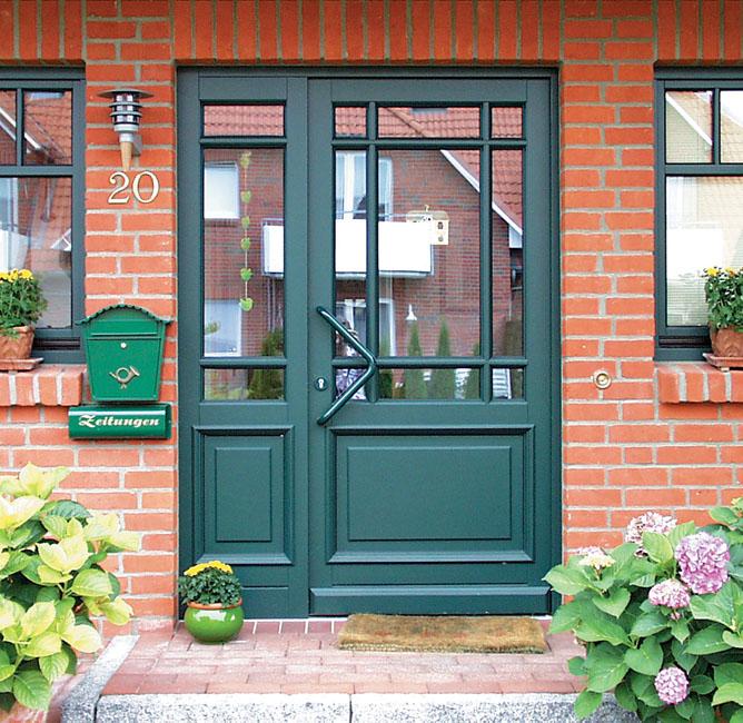 Haustür landhaus blau  Haustüren Brunkhorst, Haustüren aus Holz, Holzhaustüren ...